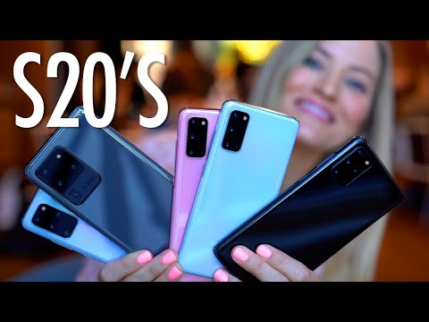 Samsung Galaxy S20 Comparisons! S20, S20+ and S20 Ultra!