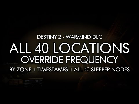 Destiny 2: Override Frequency guide - Sleeper Node locations