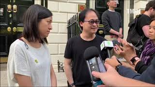 20190609 Media session after London Anti-Extradition protest