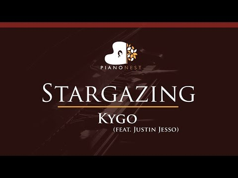 Kygo - Stargazing (feat. Justin Jesso) - HIGHER Key (Piano Karaoke / Sing Along)