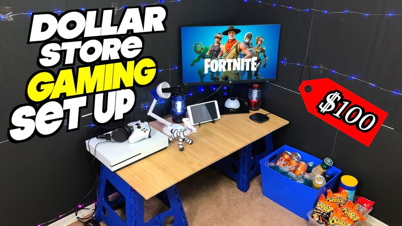 I Built a $100 Gaming Set Up Entirely From Dollar Store Items - Xbox Series S Winner Announced
