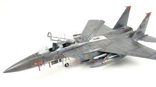 F-15 E Strike Eagle model kit build Time lapse video Revell 1/48