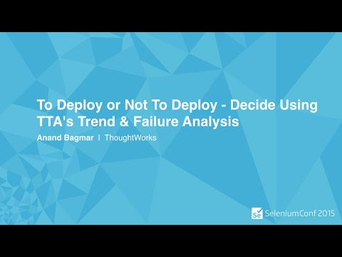 To Deploy or Not To Deploy - Decide Using TTA's Trend & Failure Analysis