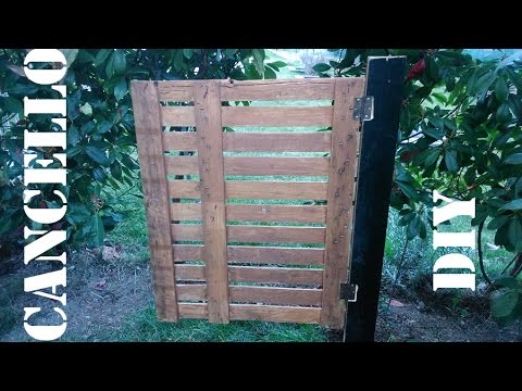 Cancelletto per giardino riciclando pallett by paolo brada diy youtube - Cancelletto giardino ...