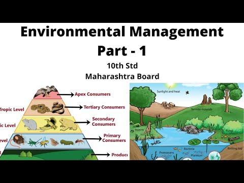 4th Lesson Environmental Management Part - 1 10th STD Maharashtra Board in Marathi (Biology)