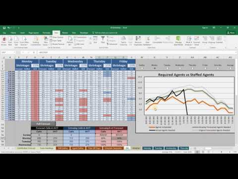 Call center agent schedule generator and intraday management software in Excel