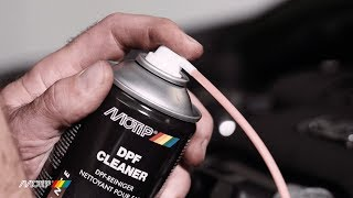 Use MoTip DPF Cleaner to remove ash deposits in diesel-particle filter systems