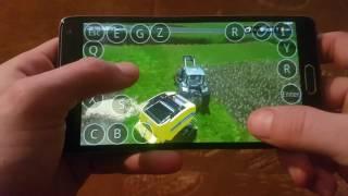 Farming simulator 2017 on android(samsung galaxy note4)  Kleinhau map making bales