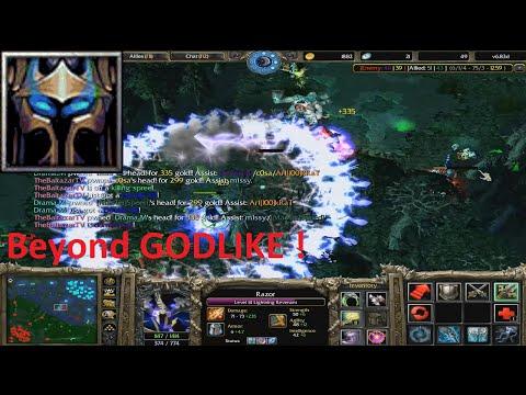 DotA 6.83d - Razor Beyond GODLIKE ( ULTRAA KILL)