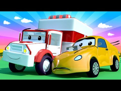 Amber the Ambulance   Tyler The Tyker Hurt His Wheels!  Car City ! Trucks Cartoon for kids
