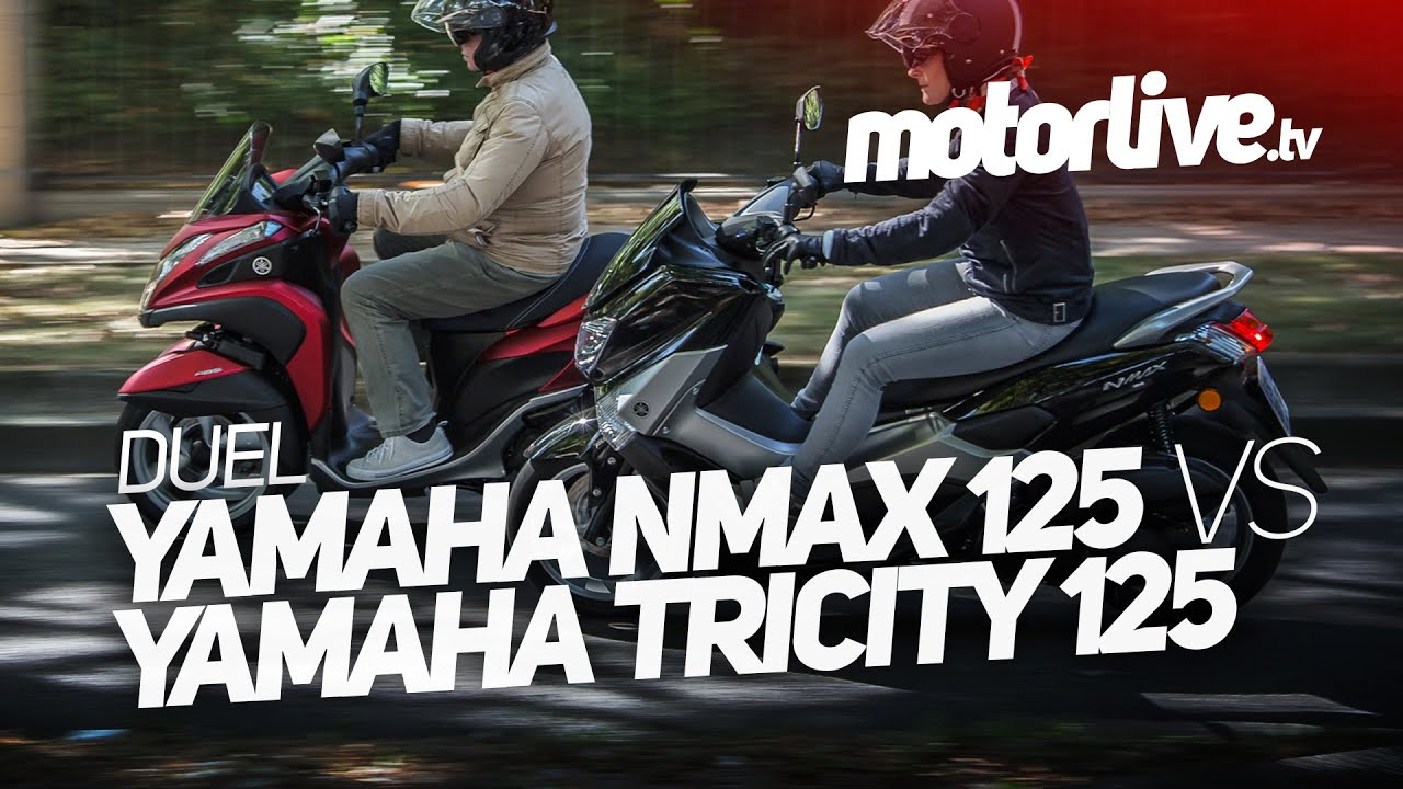 2 ou 3 roues yamaha nmax 125 vs yamaha tricity 125. Black Bedroom Furniture Sets. Home Design Ideas
