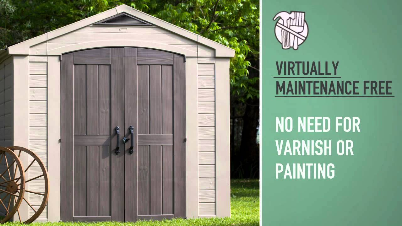 Garden Sheds 8x8 keter factor 8x8 shed - youtube