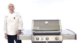 Weber Genesis Premium Gas Grill Component Overview - BBQGuys.com