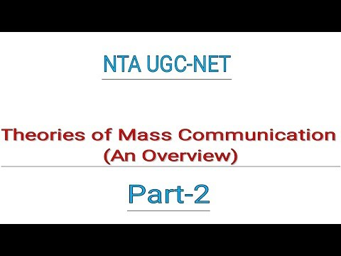 UGC-NET Theories Of Mass Communication (Part-2)