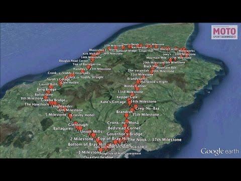 Isle of Man TT Racetrack on Google Earth