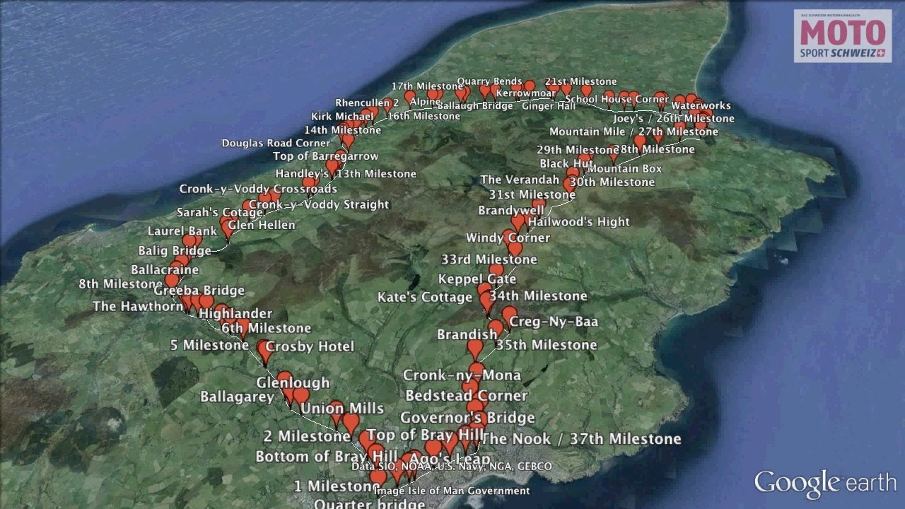 isle of man tt racetrack on google earth youtube. Black Bedroom Furniture Sets. Home Design Ideas