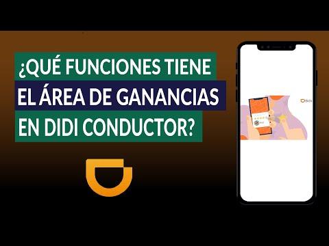 ¿Qué Funciones Tiene el Área de Ganancias en la App DIDI Conductor? - Explicación