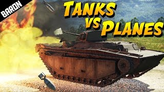 TANKS vs PLANES!  Road of the Brave! (War Thunder Gameplay)
