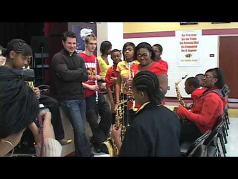 Nick Lachey Visits Shroder High School - CPS Gets Grant for Music Programs
