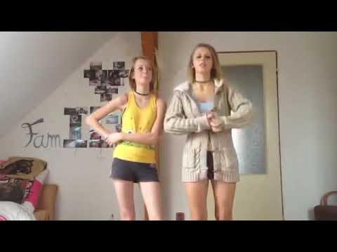 Yoga challenge foreign teen little girls flexible gymnastic