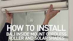 How to Install Bali® Cordless Solar and Roller Shades - Inside Mount