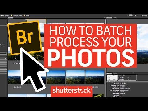 How To Batch Process Photos In Adobe Bridge | Shutterstock Tutorials