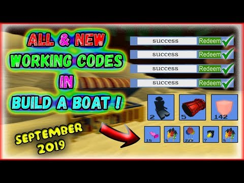 All New Codes September 2019 Build A Boat For - roblox babft codes roblox robux hilesi 2019 kod