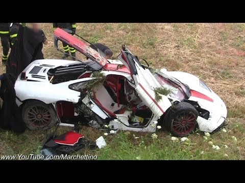 McLaren F1 Flips Over Aftermath CRASH