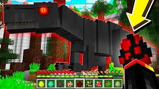 HOW TO SPAWN *INSANE* DINOSAURS in MINECRAFT! (MCPE Jurassic Park Mod)