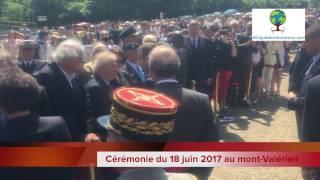 Cérémonie du 18 juin 2017 au mont Valérien avec le Président Macron