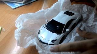 Unboxing lamborghini aventador lp700-4 white 1/24