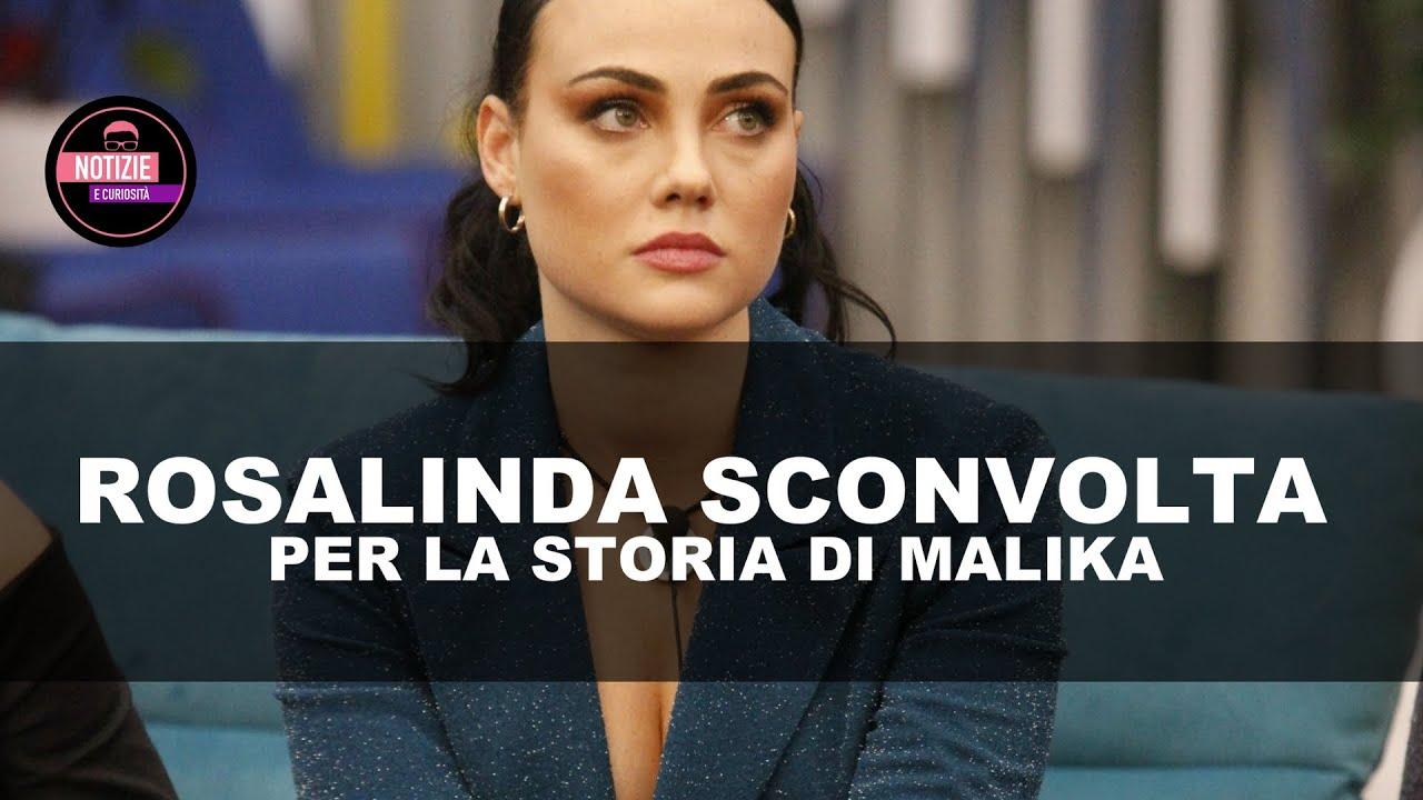 ROSALINDA CANNAVÒ SCONVOLTA DALLA STORIA DI MALIKA, LA RAGAZZA BUTTATA  FUORI DI CASA DAI GENITORI - YouTube