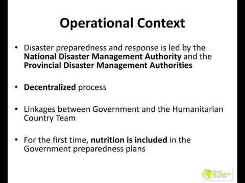 emergency preparedness and response planning in pakistan