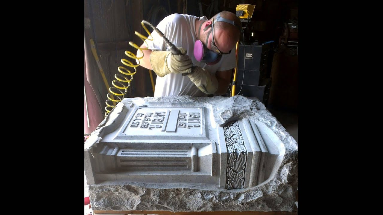 The 58 Second Hand Carved Granite Monument Youtube