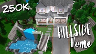 Bloxburg: Hillside Family Home Speedbuild 250K | Part 1: Downstairs | Roblox