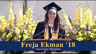 2018 University Medalist Freja Ekman's Commencement speech