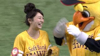 タレントのおのののかさんが始球式に登場。かつて東京ドームで「美人す...