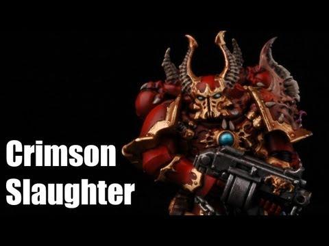 How To Paint Chaos Chosen Marines? Dark Vengeance Warhammer 40k Painting Tutorial Crimson Slaughter