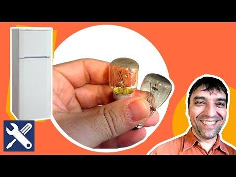 Как заменить лампочку в холодильнике электролюкс видео
