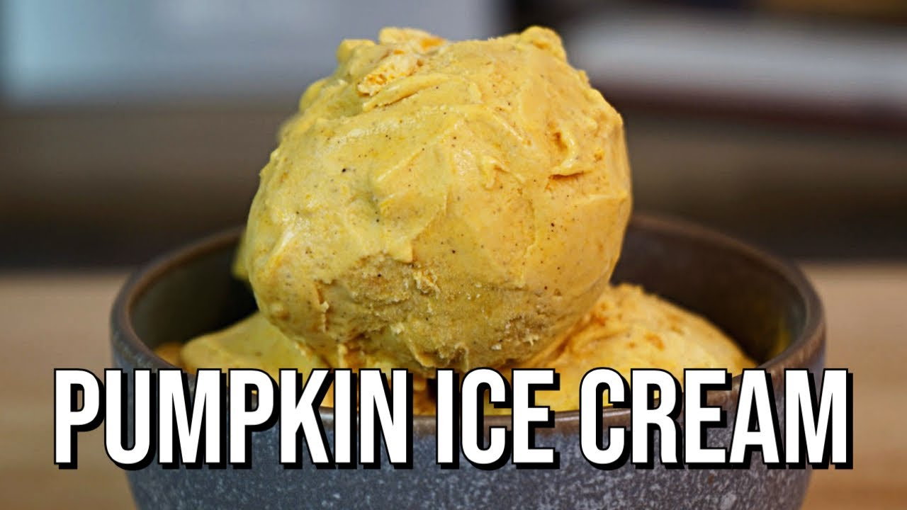 Pumpkin Ice Cream | How To Make Recipe | No Machines Required