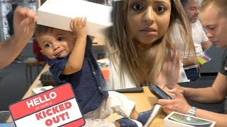 JAYDEN GOT KICKED OUT OF VERIZON FOR DESTROYING THE STORE...While buying the iPhone XS and iPad!