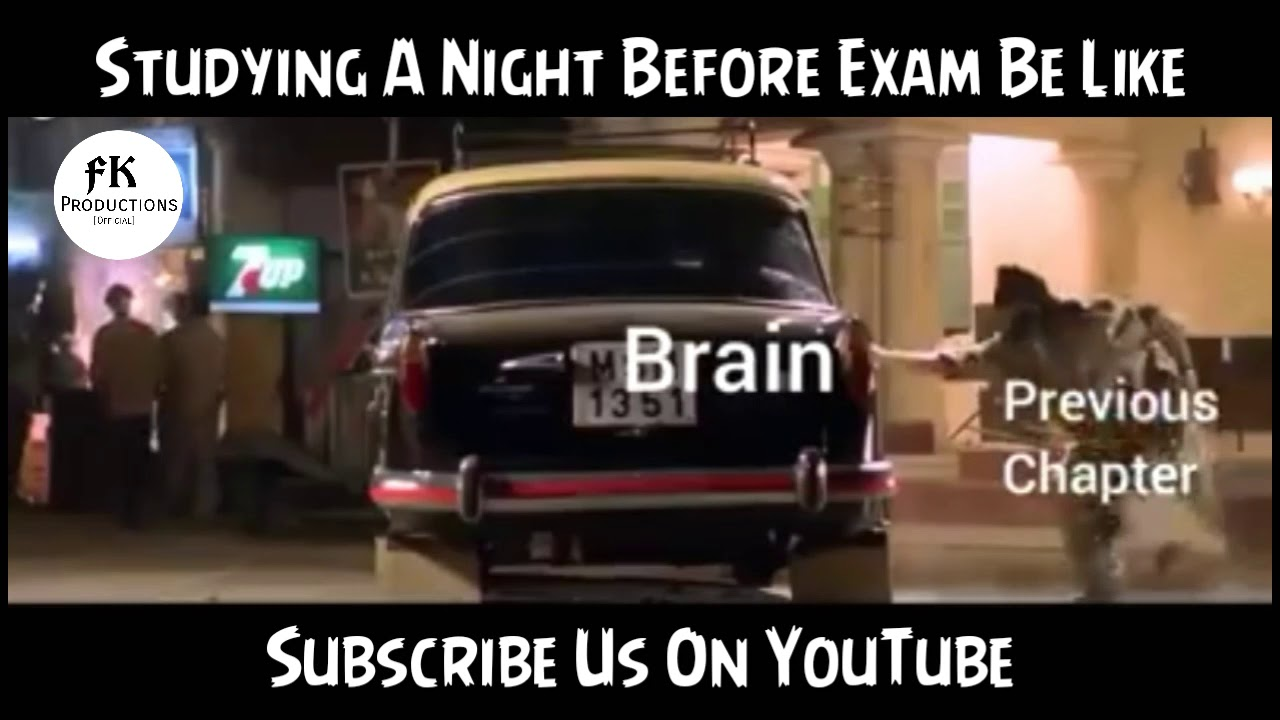 Studying A Night Before Exam Be Like.... (My Brain Hurts)