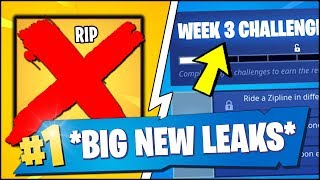 'HUGE FORTNITE LEAKS' Semaine 3 LEAKED - NO MORE MYTHIC ITEMS? (Mise à jour Fortnite)