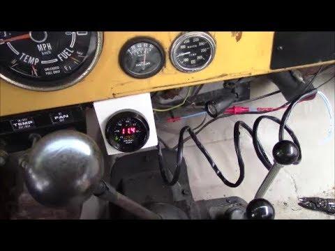 AEM Air Fuel Ratio AFR gauge Install