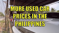 More Used Car Prices In The Philippines.