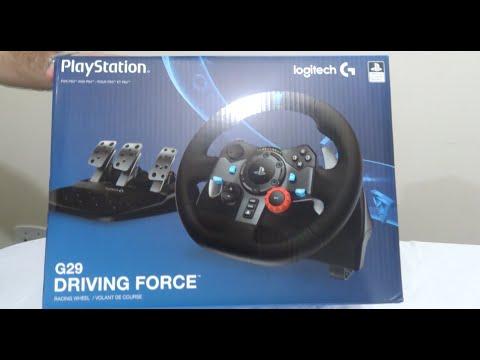 daace363716 Logitech G29 Volante com Marcha e Pedal - Unboxing - YouTube