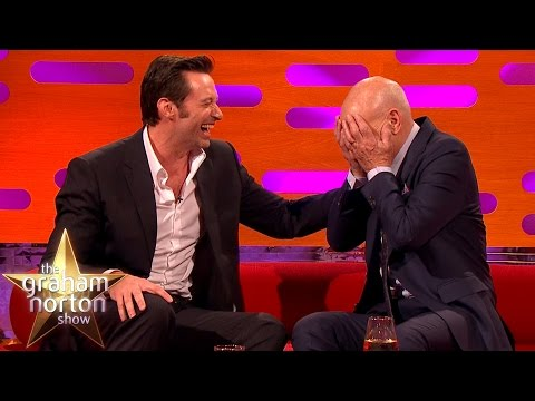 Hugh Jackman Loses It Over Sir Patrick Stewart's Ridiculous Circumcision Story   Graham Norton
