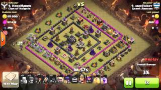 Clash of Clans - Greek Arrows vs Clash of Knights