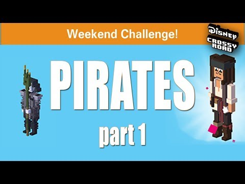 SO MUCH SALT! - Disney Crossy Road Pirates of the Caribbean Weekend Challenge - Pt. 1