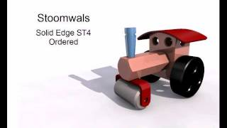Stoomwals-1001-Walsrol-A in Solid Edge ST4 Ordered van CAAP